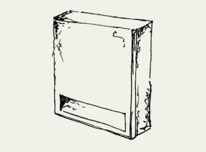 Fledermaus-Flachstein (patentiert)