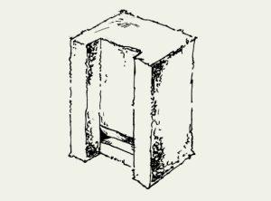 Fledermaus-Einbaustein (Grundstein)