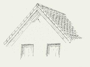Fledermaus-Dachgesims- und Giebelröhre