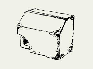 Zeichnung Nischenbrüterkasten zum Einbau – Artikel 325