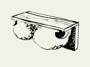 Zeichnung Mehlschwalbennest zum Öffnen (Paar) – Artikel 410