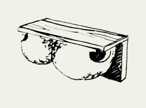 Zeichnung Mehlschwalbennest mit einhängbarem Kotbrett (Paar) – Artikel 412