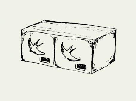 Zeichnung Mauerseglerkoloniekasten – Artikel 430