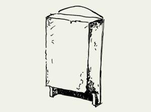 Fledermaus-Flachkasten mit seitlicher Kontrollluke