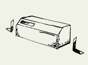 Zeichnung Mauerseglernistkasten mit Montagewinkel – Artikel 420