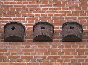 Dohlenkasten zum An- und Einbau an Mauern